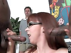 Slut wife fucks 2 BBC in front of cuckold husband