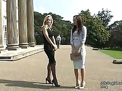 Admire these two elegant sexy babes with their beautiful high heel shoes on
