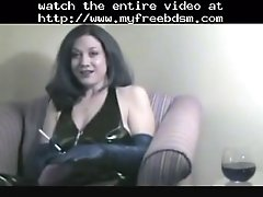 Smoking fetish granny smoking in latex bdsm bondage sla