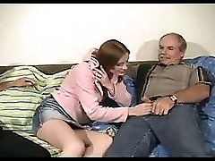 Two Old Men For Redhead Teen Allison's Cunt