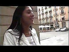 Spanish girl named Soraya gets fucked by hairy fat guy