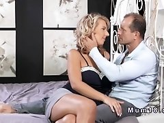Beautiful blonde mature rode and blew cock
