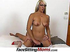 Stockings high heels wife Marketa facesitting