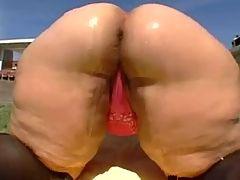 Booty Ass Blonde BBW Granny takes BBC