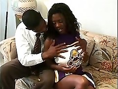 Black teen cheerleader suck mature men