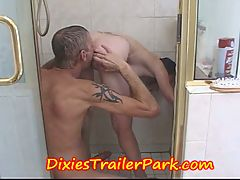 TEEN GIRL gets SHOWERED by DADDY