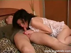 Family taboo sex of Son with mature mother and Sister