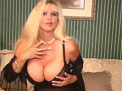 Big Breasted Blonde MILF Tia Gunn Masturbates