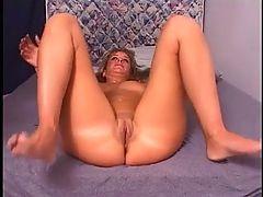 Nerdy slut getting a big cock