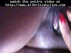 Horny black milf playing with herself british euro brit