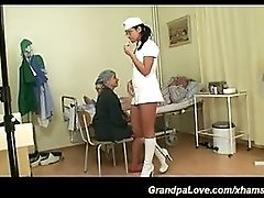 Grandpas fun with sexy nurse