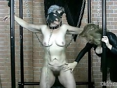 Kinky old granny gets her tits abused hard by oldnannie