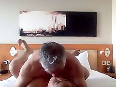Asian MILF slut playing