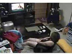 Mmmmhhh My mummy watching a porno and fingering Hidden cam
