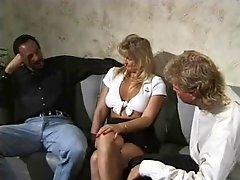 Cuckold wife fucking two stranger