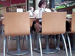 Candi Mature Nylonsoles in Public