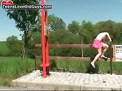 Horny old dude likes to pick up some young girls on the