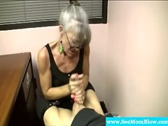 Granny loving slut giving blowjob