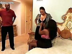 Busty Black Girls Threesome