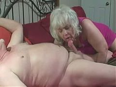Older couple he fucks her mouth