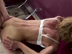 Perfect mother creampied by her young boy lover