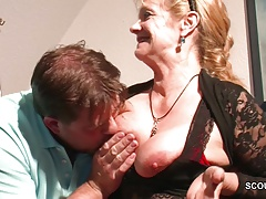 Monster Cock Step Son Seduce Hot German Mother to Fuck