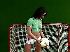 Anetta Keys Soccer Photoshoot