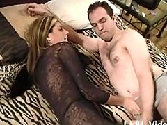 Horny wife calls her hubby s pal over to fuck her with his huge BBC!!