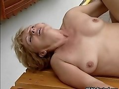 Nasty blonde housewife gets her cunt fucked hard from b