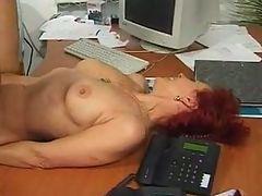 Mature secretary have hot sex