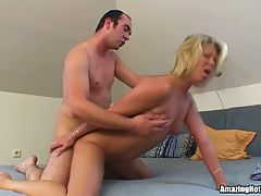 Blonde Milf Rammed and Jizzed