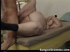 Nasty brunete milf gets banged hard up tight wet pussy