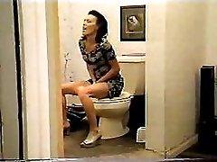 60 cm toilet brush in her ass