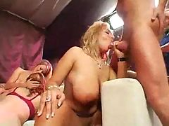 Busty Orgy Nice Girls A lot of Cum on Big Tits