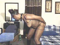 Ebony Milf Anita Teasing & Ass Fucking
