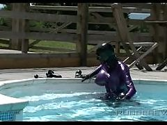 Ava blue danni pool strapon part 2