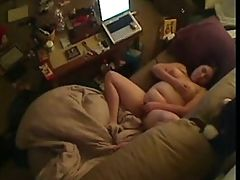 BBW teen on hidden cam