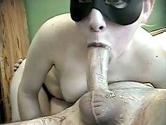 Talented slut gives messy deepthroat blowjob