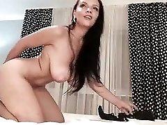 Webcams 2014 Lina Avans 1 RIDING DILDO