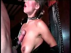 Fetish british slut on huge cock