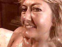 Big Tittied Blonde MILF Rheina Shine Masturbates and Fucks