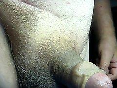 68 yrold Grandpa #130 mature cum close closeup wank uncut
