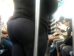 Bbw Gilf Booty on Subway pole
