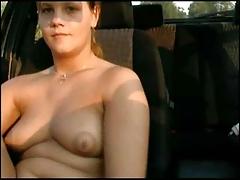 Chubby Teen in car! F70