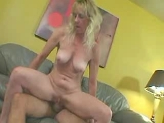 Mature blonde gets a bit of everything