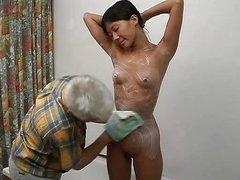Old guy young korean girl