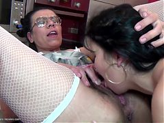 Lesbians of all ages at crazy huge group sex