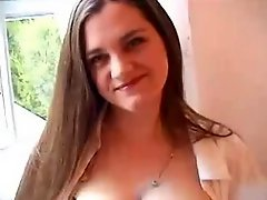 Wife play with her lactating tits