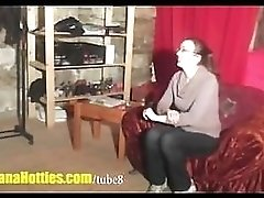 Shy teen does handjob and more at the interview