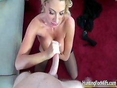 Sexy blonde with massive tits is picked up from the str
